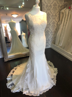 Cordelia    Fit and Flare Lace Wedding Dress