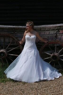 Cosette   Empire Line Lace Wedding Dress