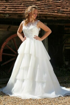 Layered Tulle Wedding Dress   Gown Style Olympe