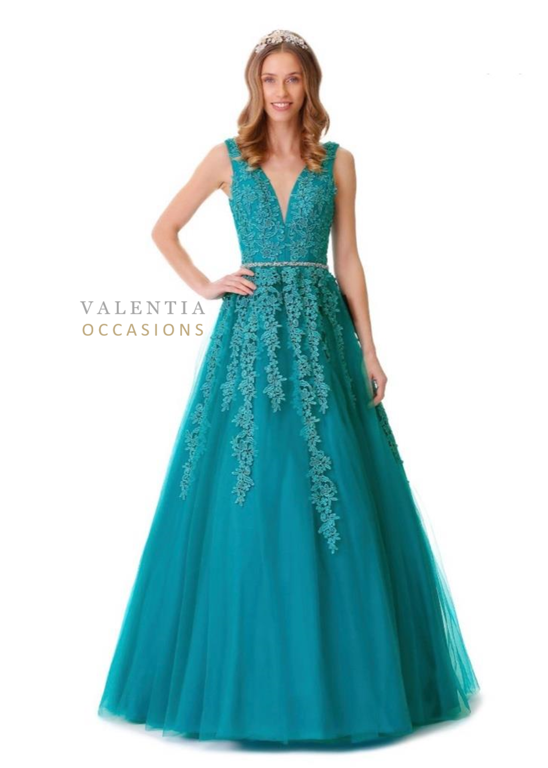Kimora Evening Dress | Princess Style Ball Gown