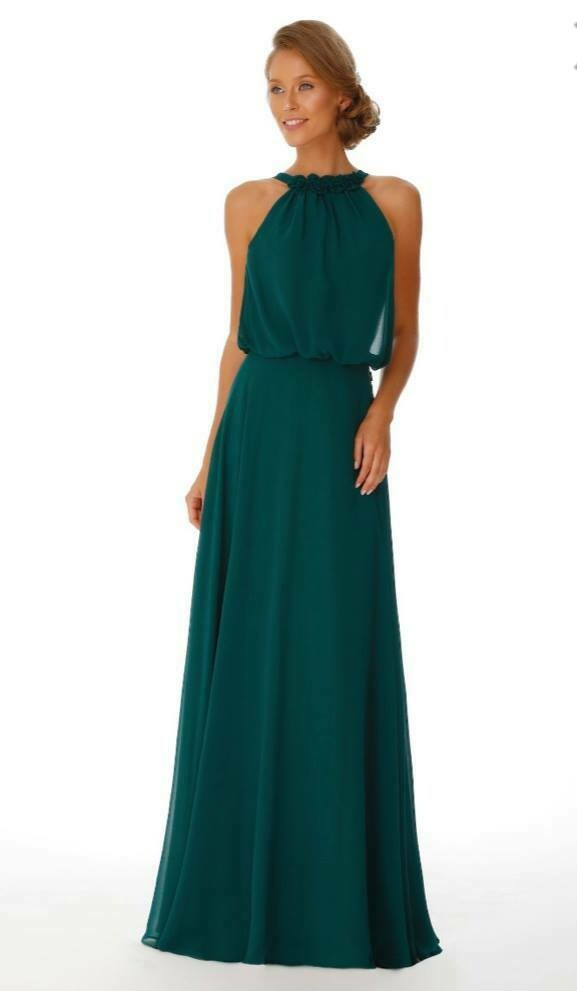 Simone Special Occasion Dress | Halter Neck Chiffon Bridesmaid Dress