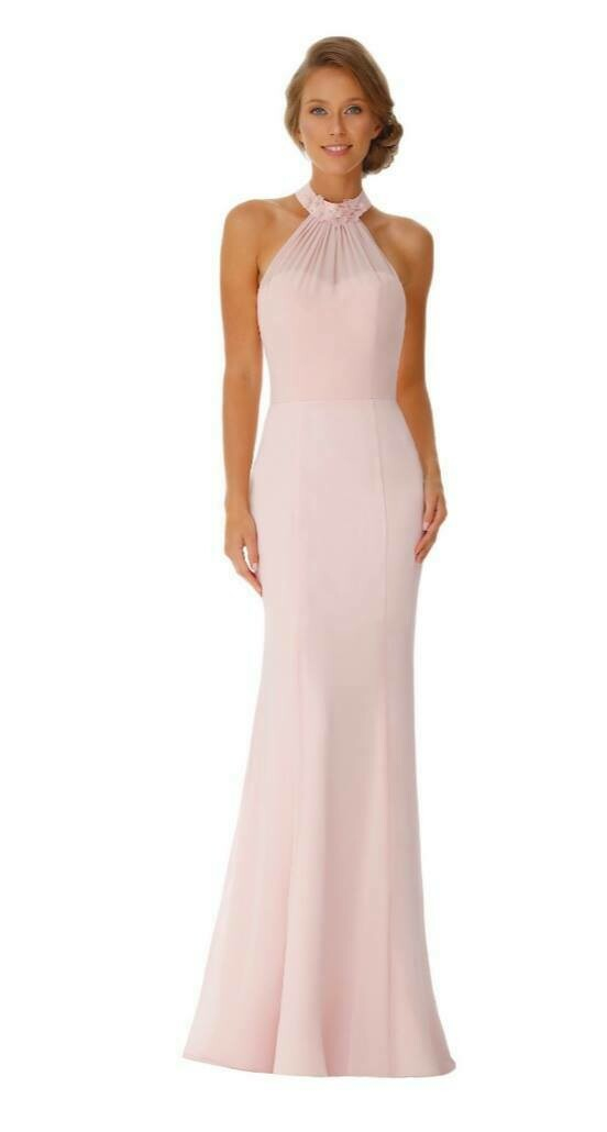 Chloe Special Occasion Dress | Halter Neck Chiffon Bridesmaid Dress