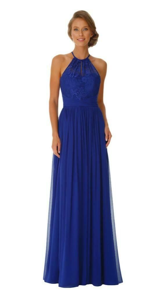 Juliette Special Occasion Dress | Lace Halter Neck Bridesmaid Dress