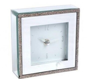 Mirror Clock with diamante edging | Wedding Gifts | Buy Online