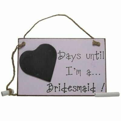 Bridesmaid Chalkboard Countdown Sign | Wedding Gifts | Buy Online