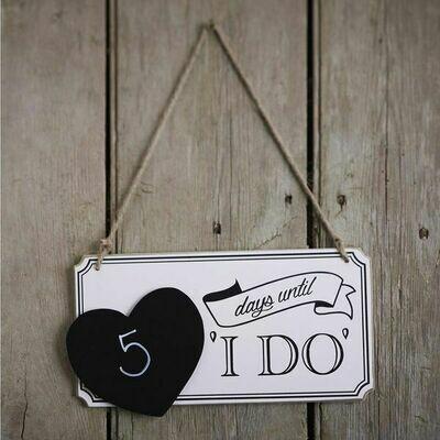 Wedding Countdown Sign | Wedding Gifts | Buy Online