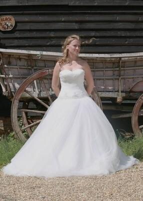 Drop Waist Tulle Wedding Dress   Bridal Gown Style Orianna