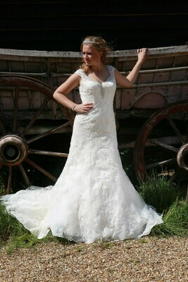 Fit & Flare Lace Wedding Dress   Bridal Gown Style Florence