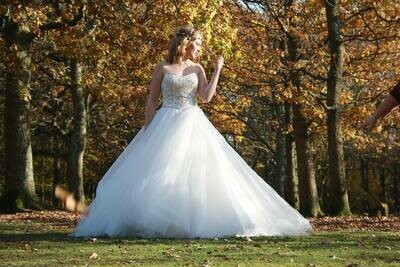 Princess A-Line Beaded Wedding Dress   Bridal Gown Style Riva