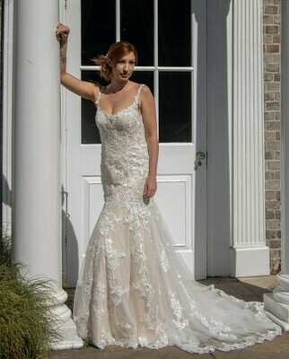 Isabella - Lace Fit and Flare Wedding Dress