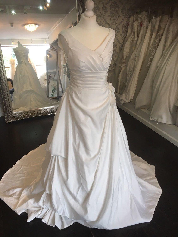 Ivory Satin Wedding Dress Size 8-10