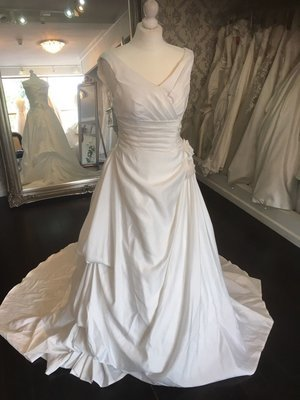Ivory Satin Wedding Dress Size 8-10