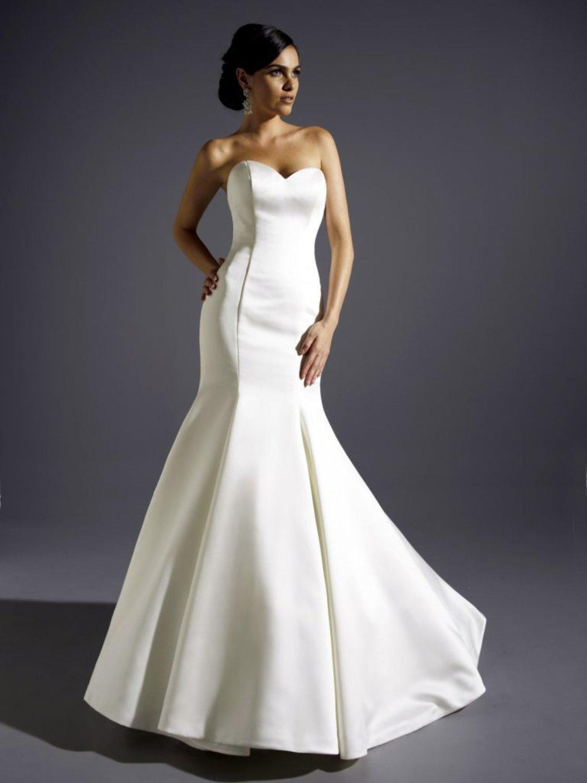 Eternity Bride Satin fishtail wedding dress Size 12