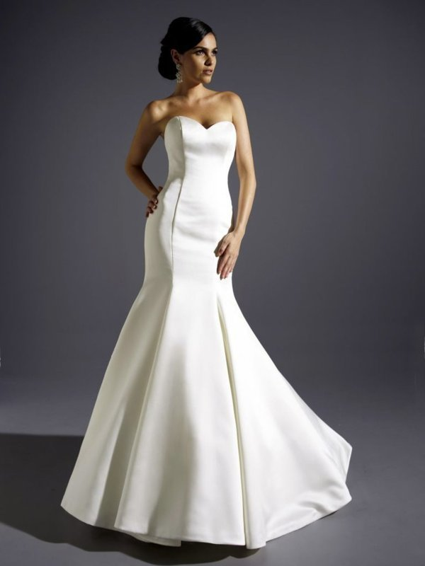 Eternity Bride Satin fishtail wedding dress Size 12