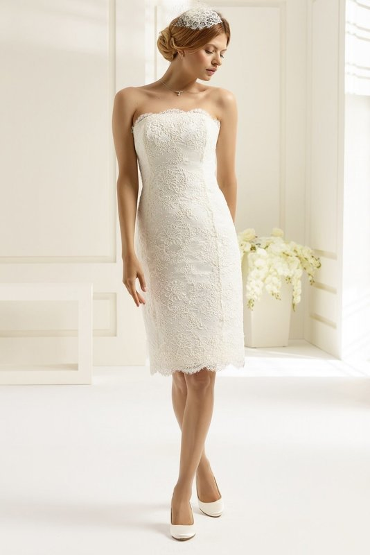 Lace shorter Length wedding dress size 12