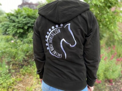 ONLINE HORSE SHOWING ZIP UP HOODIE