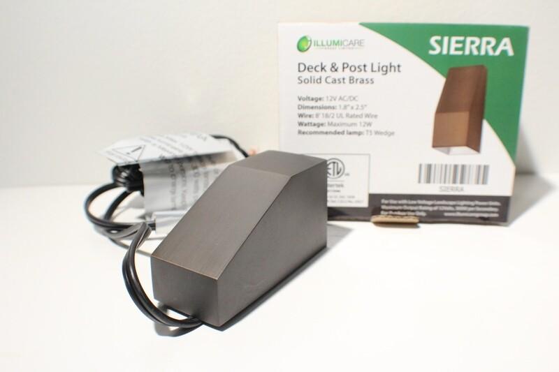 SIERRA - SMALL DECK/NICHE LIGHT - BRONZE BRASS