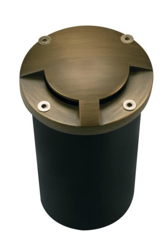 CL-206-AB - Corona Side Lighter Pathlight Brass 180 Degree