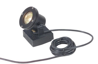 CL-310-BK - Corona MR-16 Underwater Light Black Powder Coated Aluminum W/30 Ft 18-3  Water Resistant Cable