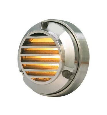 CL-352-SS Corona Stainless Steel DocK Light W/Louvers Wedge Base 18 Watt Bulb