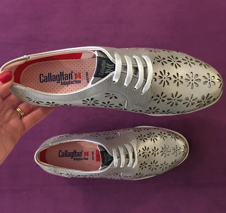 Natural Metallic Lace Shoe