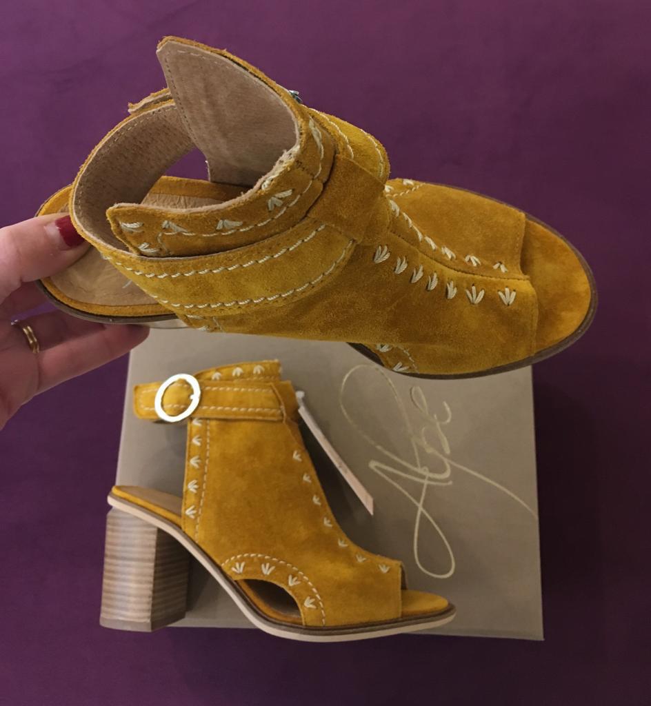 Butterscotch Suede Open Toe Boot