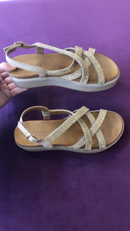 Visone Gold Glitter Platform Sandal