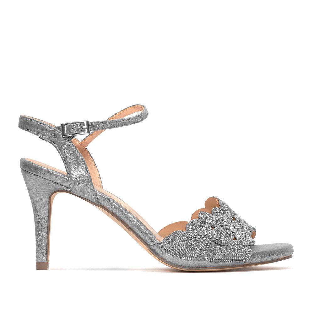 Silver Metallic Strappy Sandal