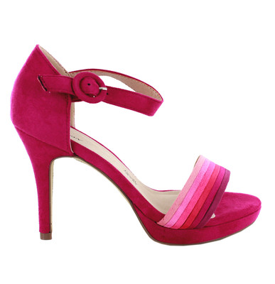 Pink Suede Strappy Sandal
