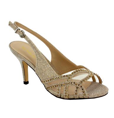 Stone Glitter Slingback Sandal
