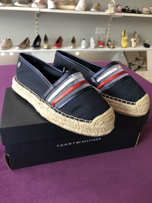 Midnight Blue Glitter Espadrilles