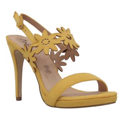 Yellow Suede Daisy Heel