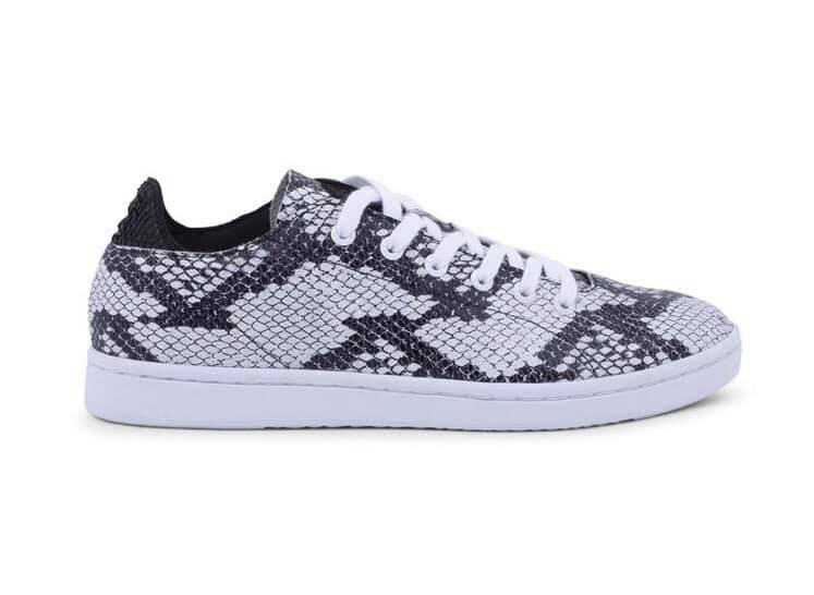 Jane Leather Snake Black & White Trainer