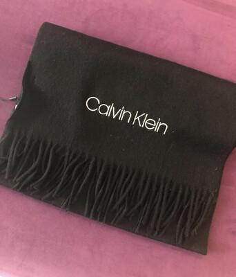 Black Calvin Klein Classic Wool Scarf