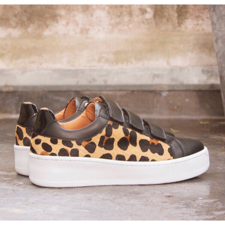 Judith - Velcro Trainer With Leopard