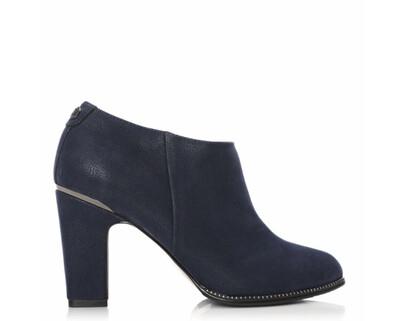 Laurente Navy Protauras Stud Rand Heel Clip Short Boot