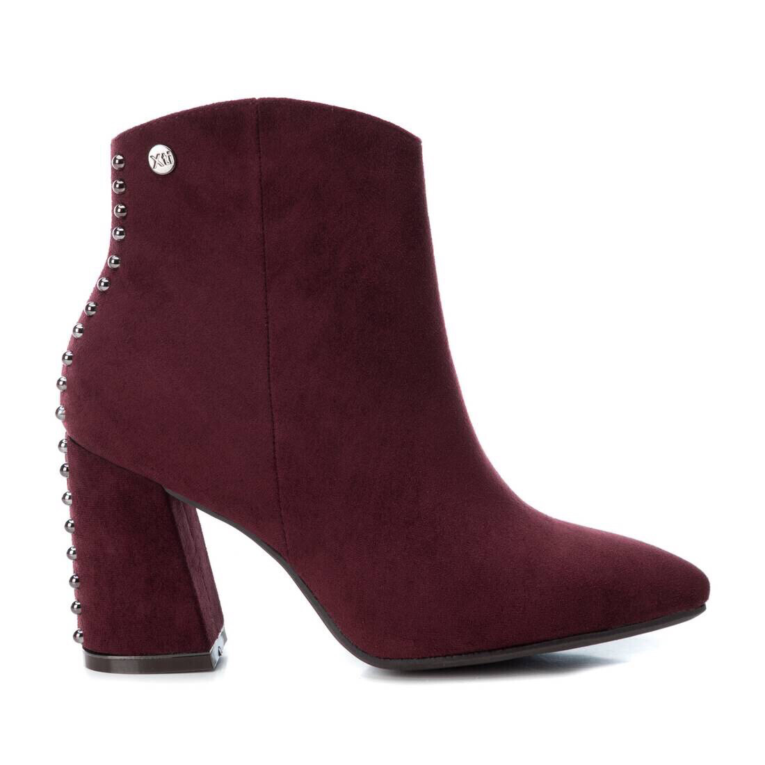 Burgundy Studded Ankle Boot