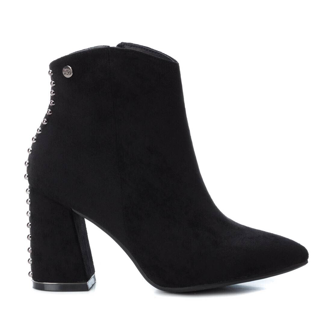 Black Ankle Boot With Studded Detail