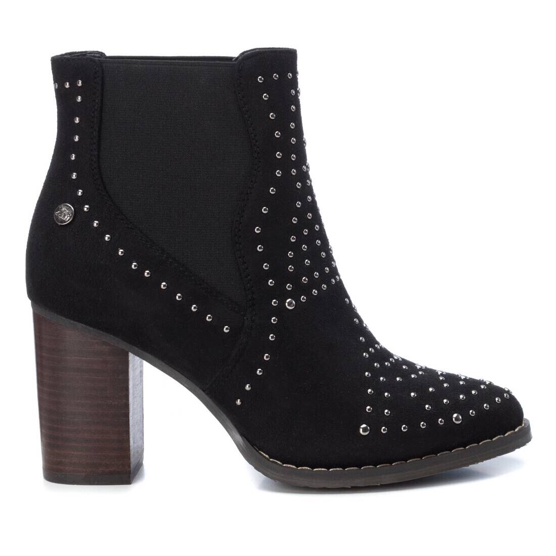 Black Studded Detail Ankle Boot