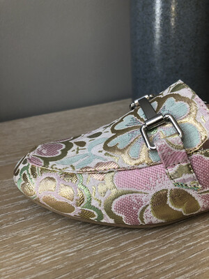 Rose Gold Multi Color Slip On Shoe