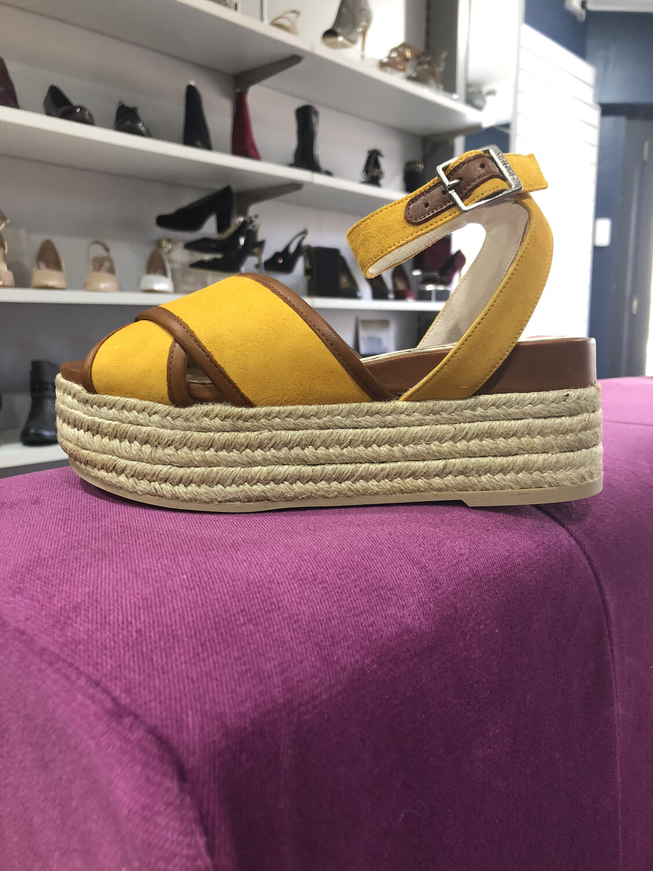 Saffron Wedge Sandal Ankle Strap Detail