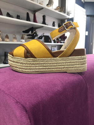 Saffron Wedge Sandal Ankle Strap Detail
