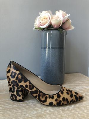 Zanye Leopard Pony Block Heel