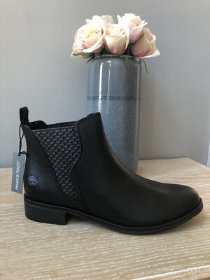 Black Ankle Boot Low Heel