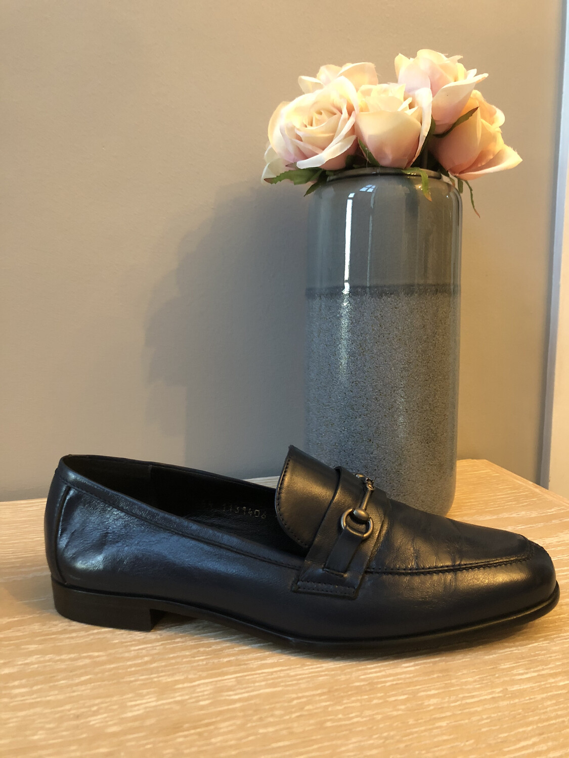 Classic Navy Leather Loafer