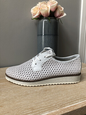 Light Grey Laced Mesh Shoe