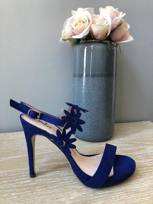 Dazzling Blue Flower Detail Heel