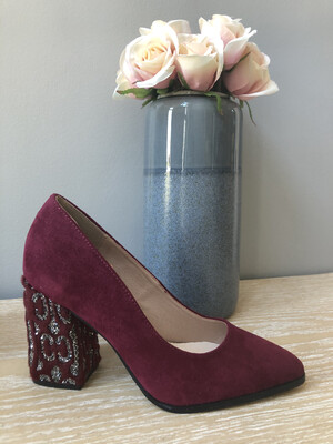 Ruby Suede Block Heel