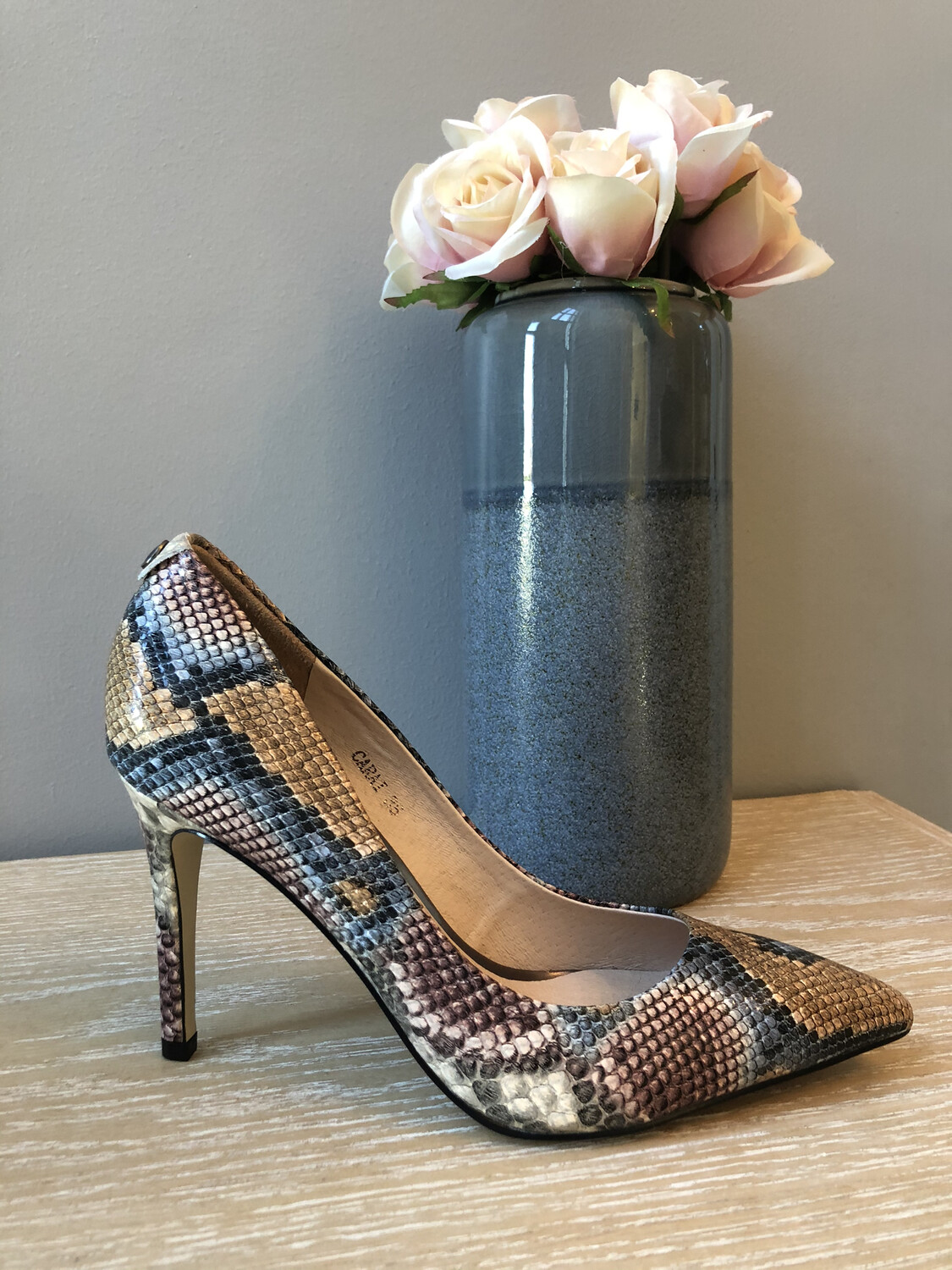 Carai Multi Snake Leather Court Shoe