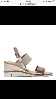 Nevva Rose Gold Leather Sandal